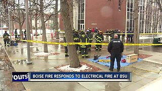 """Boise State """"Quad"""" evacuated after accidental fire caused by electrical failure"""