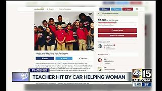 Phoenix teacher hospitalized after struck by car