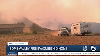 Some Valley Fire evacuees go home