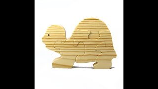 Handmade Wood Puzzle Turtle, Simple Five Pieces