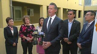 Governor Gavin Newsom talks combating homelessness in California