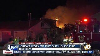Fire destroys Encinitas-area home