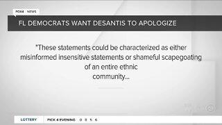 Democrats ask DeSantis to apologize