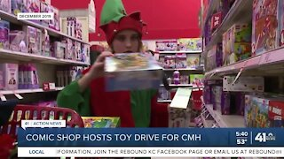 Comic shop hosts toy drive for CMH