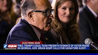 President Trump's legal team presents evidence of alleged voter fraud in Ga.