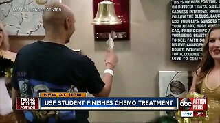 USF student celebrates last chemotherapy at Moffitt Cancer Center