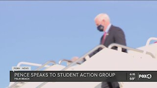 Pence speaks to student action group
