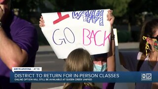 Queen Creek district to return for in-person classes