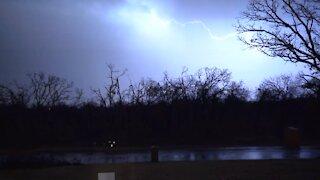 Lightning, Rumbling, a November Storm rolls thru...