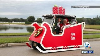 Golf Cart Christmas parade held in Vero Beach