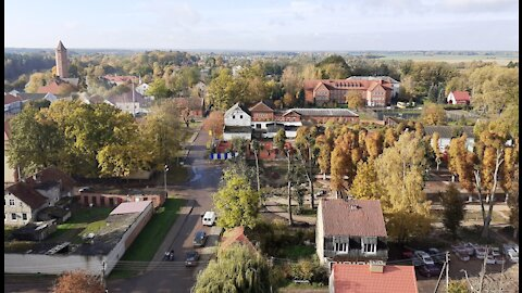 Pravdinsk, view of the surrounding area from the bell tower of the Friedland Church