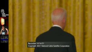 Biden RUNS AWAY from Press After Speech on Afghanistan #BEEYATCH