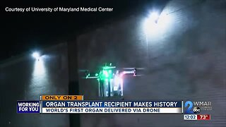 Baltimore woman receives world's first organ transplant delivered via drone