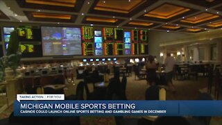 Michigan could launch of online sports betting, other games in December