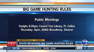 State reviewing big game hunting rules