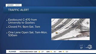 Traffic Alert: Closures on C-470 this weekend