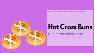 Piano Adventures Performance Book Primer - Hot Cross Buns