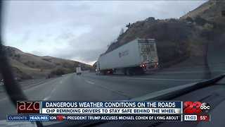 Weather changes are creating dangerous road conditions