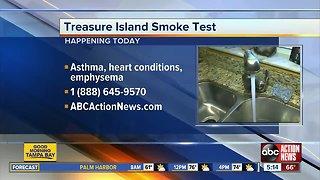 Treasure Island to smoke test sewer lines