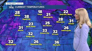 Chilly Saturday with partly cloudy skies and highs in the upper 30s