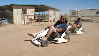 Go-Kart racing in the Arizona Desert