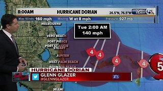 9/1/19: Hurricane Dorian update 8am