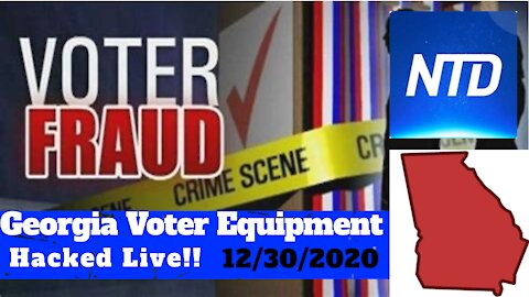 Georgia Voter Equipment Hacked Live by Jovan Pullitzer - 12/30/2020