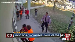 Video shows altercation between teacher and student in Sarasota
