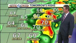 Rain and storms tomorrow