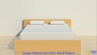 Simple Platform Bed with Wood Texture