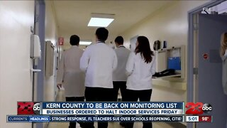 More Kern County businesses ordered to close indoor services Friday