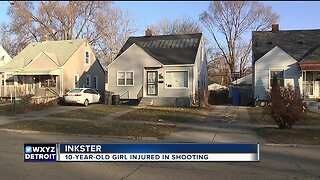 10-year-old girl injured in Inkster shooting