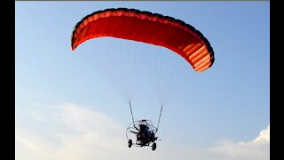 Powered Parachute landing in a classic Infinity