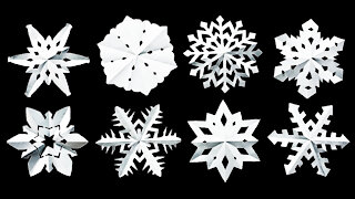 How to Make Paper SnowFlakes Easy! (8 Designs)
