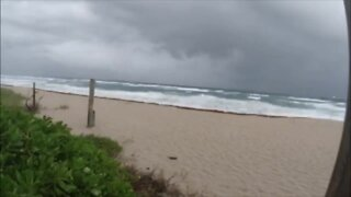 A timelapse view of clouds rolling in Saturday afternoon at Lake Worth Beach