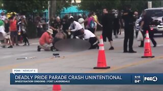 Driver unintentionally crashed into pride parade over the weekend