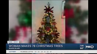 Woman makes 78 Christmas trees for nursing home residents