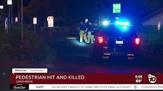 Pedestrian hit by SUV, killed in Lemon Grove
