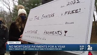 No mortgage payments for a year for Owings Mills family