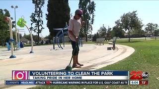 Homeless woman making a difference downtown