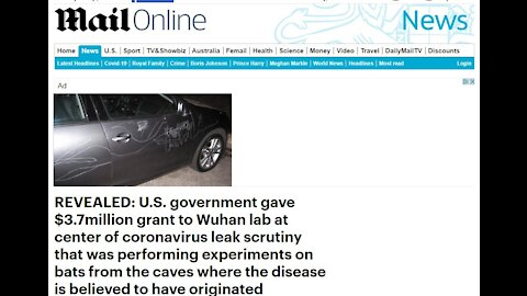 REVEALED: U.S. government gave $3.7million grant to Wuhan lab