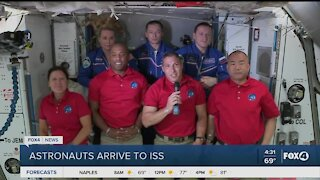 Astronaut arrive at the International Space Station