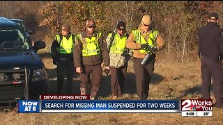 Search for missing man suspended for two weeks