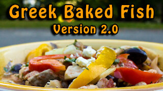 Dutch Oven Greek Baked Fish - Version 2.0