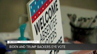 Biden, Trump backers eye vote count