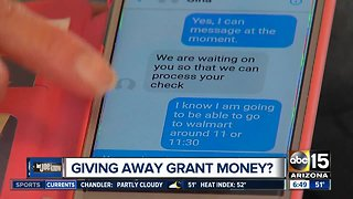 What's up with the Facebook messages offering grant money?