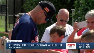Houston Astros hold full squad workout