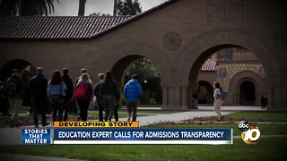 Education expert calls for admissions transparency