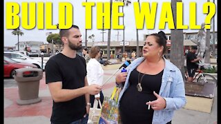 BUILD THE WALL?   California Liberals Talk About The Wall and Illegal Immigration