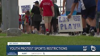 San Diego youth protest sports restrictions